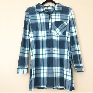 Allison Brittney Plaid Flannel Popover Tunic